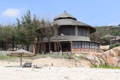 在muine,越南附近的热带海滩胜地 免版税库存图片