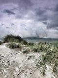 在Mulranny海滩,梅奥郡的沙丘 库存图片