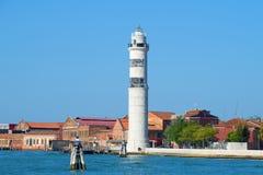 在Murano海岛上的灯塔在一个晴天 意大利威尼斯 库存照片