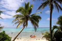 在Muri海滩的百万美元视图 库存照片