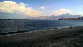 在musandam的海滩 免版税库存照片
