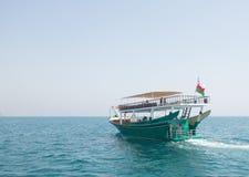 在musandam的游船 库存图片