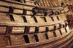 在musem -斯德哥尔摩的瑞典老战舰脉管 免版税库存图片