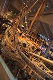 在musem -斯德哥尔摩的瑞典老战舰脉管 库存照片