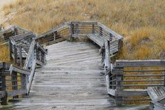 在Muskegon国家公园的台阶 免版税库存图片