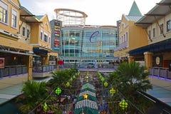 在mutiara damansara的曲线购物中心 免版税库存图片