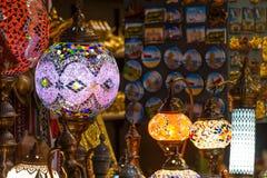 在Mutrah Souq的阿拉伯灯,在马斯喀特,阿曼 图库摄影