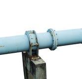 在n的一个唯一金属管子大水泥岗位 免版税库存图片