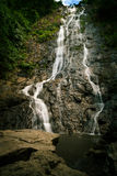 在Nakhon Nayok的Sarika瀑布6月 库存图片