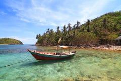 在Nam Du islands,越南的美丽的海滩 库存照片