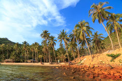 在Nam Du islands,越南的美丽的海滩 图库摄影