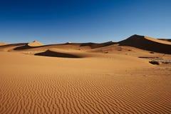 在Namib沙漠风景的沙丘  免版税库存照片
