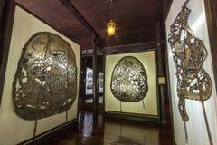 在Nang亚伊Wat Khanon遮蔽木偶博物馆 免版税图库摄影