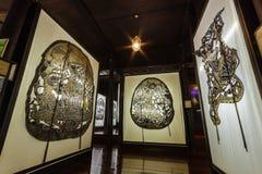 在Nang亚伊Wat Khanon遮蔽木偶博物馆 免版税库存照片