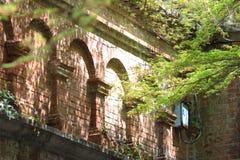 在Nanzen籍寺庙的古老渡槽在京都,日本 免版税库存图片
