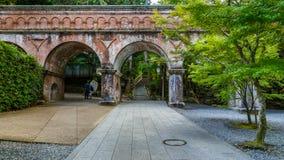 在Nanzen籍寺庙的渡槽在京都 免版税库存照片