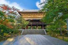 在Nanzen籍寺庙的Sanmon门在京都,日本 免版税库存照片
