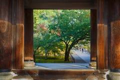 在Nanzen籍寺庙的Sanmon门在京都 库存照片