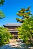 在Nanzen籍寺庙的Sanmon门在京都 免版税库存照片