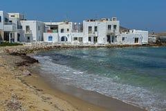 在Naousa镇,帕罗斯岛海岛,基克拉泽斯咆哮 图库摄影