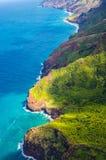 在Napali海岸的看法在夏威夷的考艾岛海岛上 库存图片