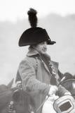 在Napoleon Bonaparte'e角色的一reenactor 库存图片