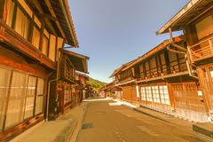 在Narai的乡下公路是一个小镇和老镇provi 免版税图库摄影