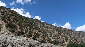 在Naran附近的Chilas山 库存图片