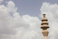 在narelli耆那教的寺庙, ajmer,拉贾斯坦的柱子 免版税图库摄影