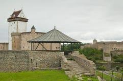 在Narva的城堡Herman,爱沙尼亚 免版税库存图片