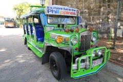 在nayong pilipino克拉克的Jeepney 免版税图库摄影