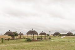 在Ncome祖鲁族人遗产博物馆的野餐区Bloedrivier的 库存图片