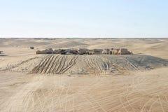 在Nefta突尼斯附近的星际大战风景 免版税图库摄影