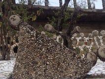 在Nek Chand假山花园,昌迪加尔,印度的雕象 库存图片