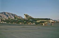 在Nellis AFB,拉斯维加斯内华达1987年10月的美国空军 免版税库存照片
