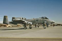 在Nellis AFB,拉斯维加斯, Vevada的美国空军费尔柴尔德共和国A-10A 免版税库存图片