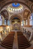 在Neolog犹太教堂锡安里面 奥拉迪亚,罗马尼亚 库存图片
