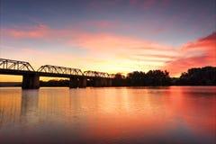 在Nepan河Penrith的壮观的日落 免版税图库摄影