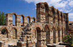 在Nessebar保加利亚古城 库存图片