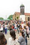 在Nestenar比赛的跳舞青年时期,保加利亚 免版税图库摄影