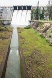 在Neyyar水坝里面的水道 免版税图库摄影
