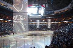 在NHL的毛巾力量 库存照片