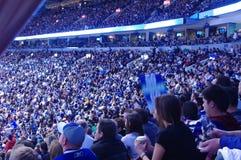 在NHL的毛巾力量 库存图片