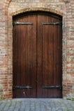 在Nieuwe Kerk的木门 库存照片