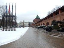 在Nijni诺夫哥罗德克里姆林宫里面 免版税图库摄影