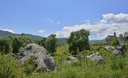 在Niksic附近的风景 免版税库存图片