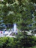 在Niska banja -塞尔维亚的喷泉 库存照片