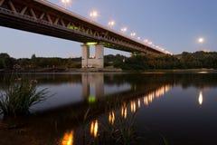 在Nizhniy Novgorod的桥梁 免版税库存照片