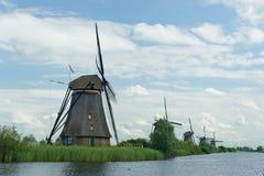 在nl联合国风车世界附近的遗产kinderdijk 免版税库存图片