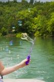 在Norris湖的泡影 免版税图库摄影
